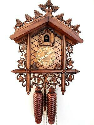 cuckoo clock black forest 8 day  german carving mechanical new