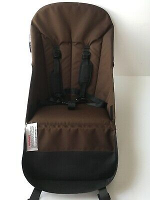 Bugaboo Cameleon 1 & 2 Stroller Canvas Seat Fabric Base Brown with harness CLEAN