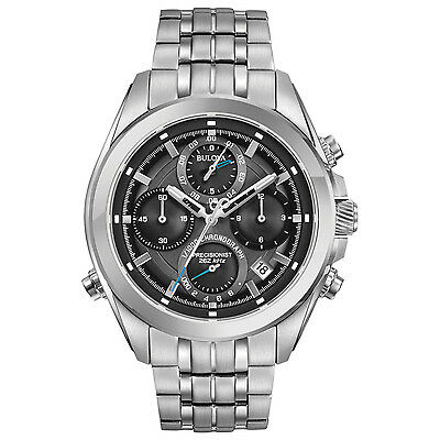 Bulova Precisionist Men's Chronograph Quartz Gray Multi Dial 44.5mm Watch 96B260