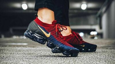 New Mens Nike Air Vapormax Flyknit 2 Sneakers 942842 604 Size 12.5