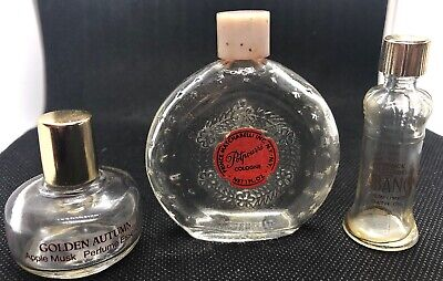 Lot Of 3 Prince Matchabelli Perfume Cologne Bottles