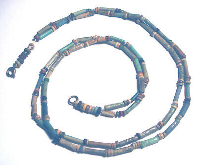 Double Strand ANCIENT EGYPTIAN FAIENCE Mummy BEAD Necklace