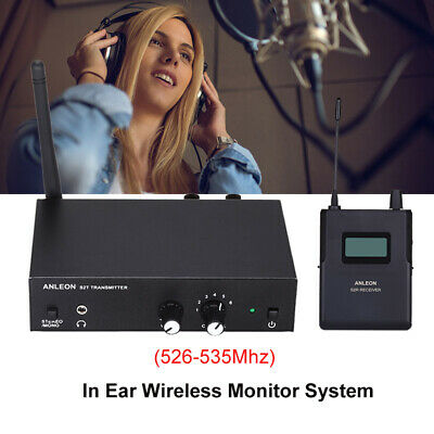 ANLEON S2 In-ear UHF Stereo Monitor System Professional LED Receiver 526-535Mhz