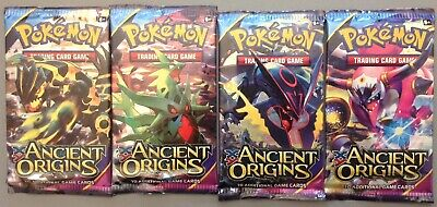 4 Sealed 2015 Pokemon Booster Packs XY Ancient Origins All 4 Arts