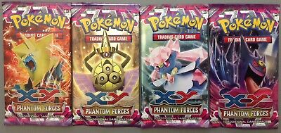 4 Sealed 2014 Pokemon Booster Packs XY Phantom Forces All 4 Arts