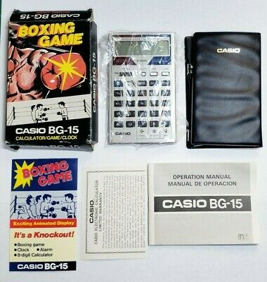 Casio BG-15 Boxing Game Electronic Calculator Made in Japan vintage with box