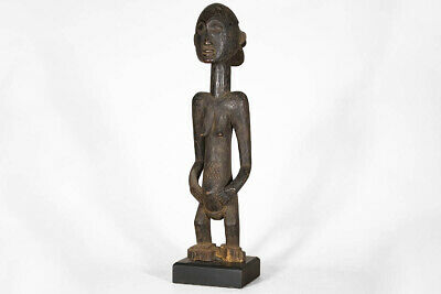 """Attractive Female Luba African Statue with Base 27"""" - DRC"""