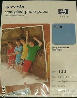 Hp Everyday - Semi-Gloss Photo Paper - 100 Sheets - 8.5 X 11 In - New