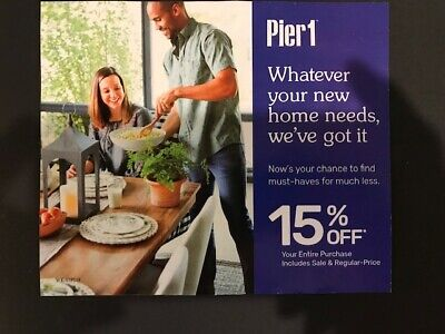Pier 1 Imports 15% Off Entire Purchase Expires 9/30/19 FreeDelivery