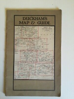 Vintage Duckham's Road Map of England, Wales and Southern Scotland and Guide