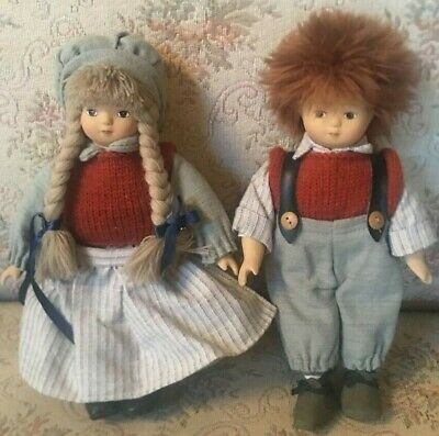 Beautiful Pair Antique Small Bisque German Boy- Girl