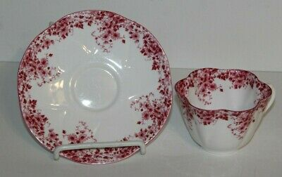 Vintage Shelley Bone China Dainty Pink 051/P England Cup & Saucer