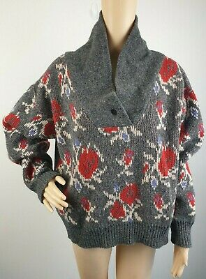 Country Road Vintage New Wool Gray Oversize Jumper / Size Small - 10