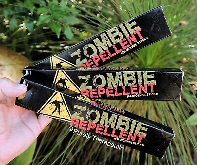 ZOMBIE REPELLENT INCENSE STICKS~Devils Garden 15gms x 3 Wicca Smudge Ritual Yoga
