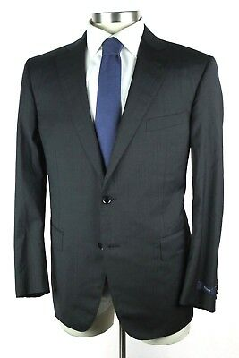 NWT $2195 PAL ZILERI Italy Charcoal Wool Flat Front Suit 40 R Fits 42 R Portly