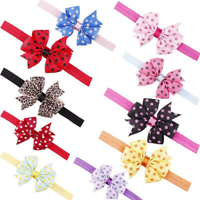 Toddler Infant Baby Girls Bow Headband Newborn Elastic Hairband Hair Accessories