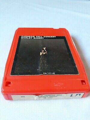 SHIRLEY BASSEY - Live at Carigie Hall- 8 Track
