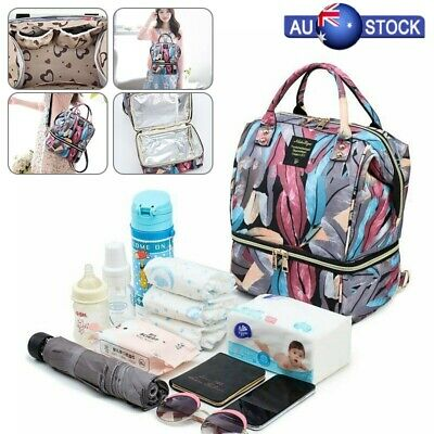 Mummy Backpack Baby Diaper Nappy Changing Rucksack Mom Nursing Large Travel Bag