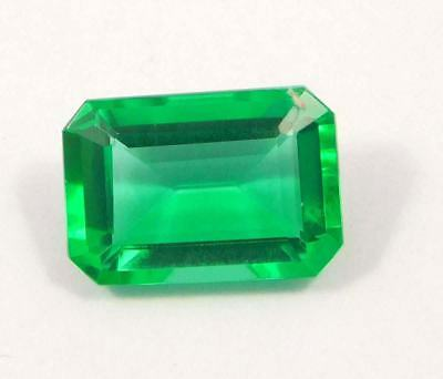 Beautiful Treated Faceted Green Emerald Gemstone 12x9 mm  NG16185
