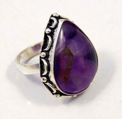 Amethyst Lace .925 Silver Plated Handmade Ring Size-8.75 Jewelry JC4371