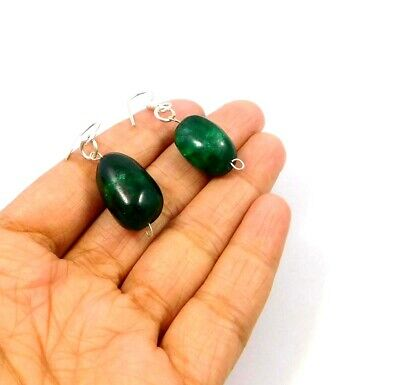 Dyed Emerald .925 Silver Plated Handmade Designer Earring Jewelry JC10009