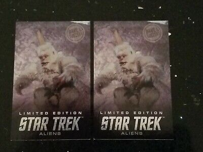 Star Trek Hologram Mugato 2 Cards, Dave and Busters - Free Shipping