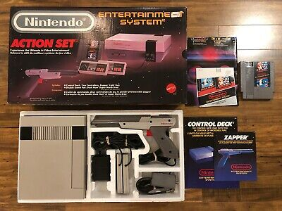 Nintendo Entertainment System Action Set NES Console * Complete in Box * CIB *