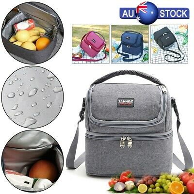 Insulated Lunch Bag Picnic Coolbag Work Adult Kids Food Storage Lunchbox AU