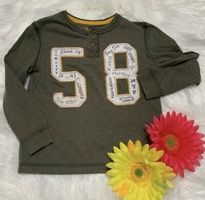 Cherokee Toddler Boy's Long Sleeve Olive T-Shirt Size 4T
