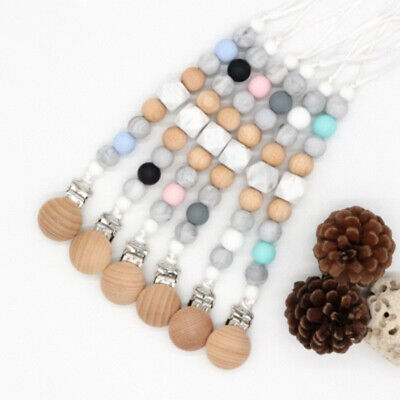 Silicone Baby Nipple Clasps Dummy Holder  Pacifier Clip Chain  Teething Toy
