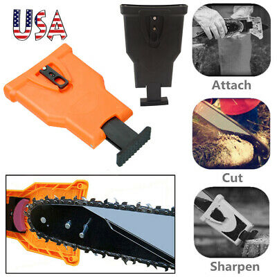 USA Quality Chainsaw Teeth Sharpener Fast-Sharpening Stone Grinder Tool 2 Color