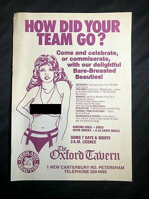 Sydney Oxford Tavern flyer from 1960s or 70s