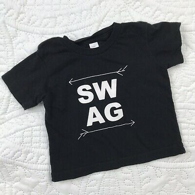 Baby Swag T Shirt 3-6 Month Top Crew Cotton American Apparel Short Sleeve Tee