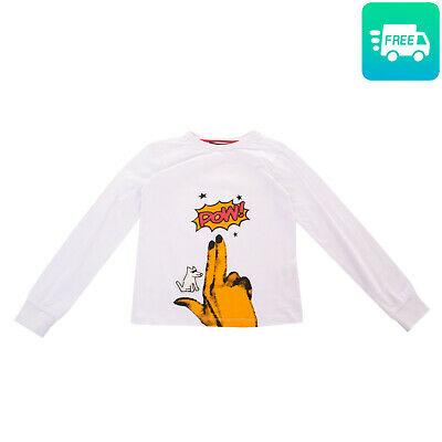 finest selection d7525 48c6b HEACH JUNIOR BY SILVIAN HEACH T-Shirt Top Size 8Y 'Pow' Printed Front Dog  Patch