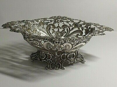 Stunning Antique 925,Sterling Silver William Comyns Pin Dish, Lond 1892, 99.Gms