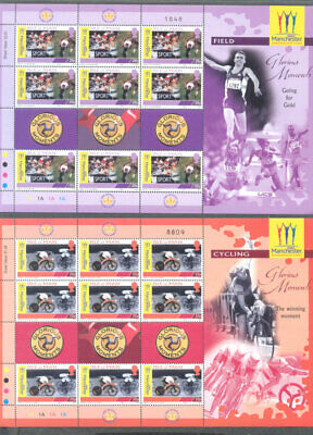 Isle of Man Commonwealth Games complete set in sheets-2002 mnh