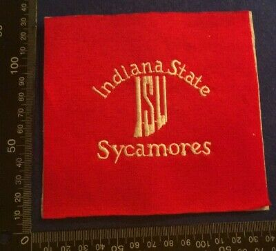 Embroidered Cloth Patch Badge Patchwork - Indiana State Sycamores    (Dd73)