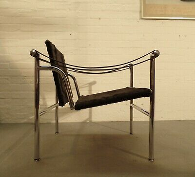 Vintage CASSINA LC/1 LC1 Easy Chair Perriand Corbusier Ponyfell