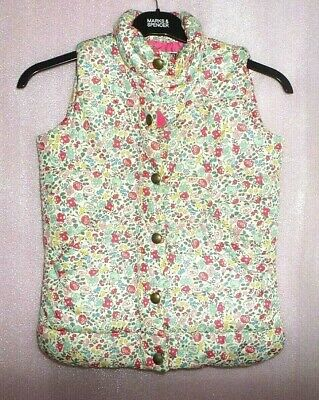 Joules Girls Padded Gilet - Ditsy Floral  - AGE 9-10 YEARS MULTI COLOURED
