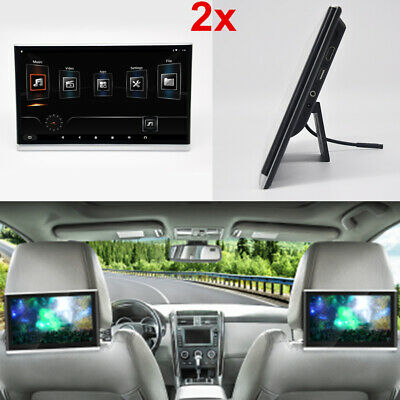 "2x 12.5"" HD Car Headrest Monitor Android 8.1 2+8GB 4-Core Wifi HDMI Mirror Link"