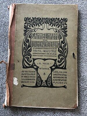 Antique Textile Design Collection Book Fabric Christian Stoll German 42 Designs