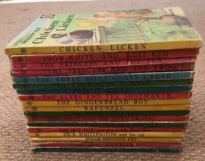 18 Vintage Ladybird 'Well Loved Tales' Books Series 606D Good Condition.