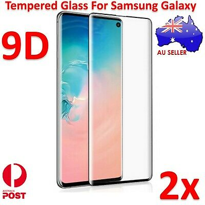 2x 9D Curved Tempered Glass Screen Protector For Samsung Galaxy S10e S10 S10+