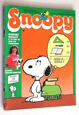SNOOPY n. 24 Anno 3 n. 9 Settembre 1988 Rizzoli RCS