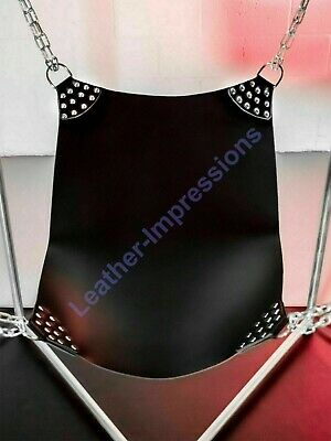 Real Thick Leather Gay Sex Swing Sling Adult Bondage Interest With Leg Straps
