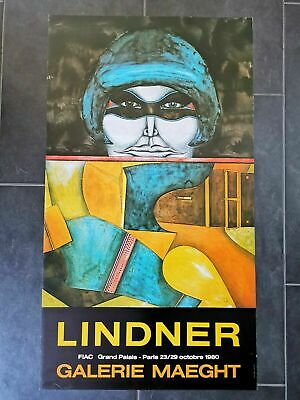 Kunstdruck Plakat Poster 44x78 cm Lindner Grand Palais Paris 23/29 Octobre1980