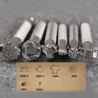 Alloy Leather Printing Tool Craft Carving Making Punch Stamps 6 Shape Print Tool