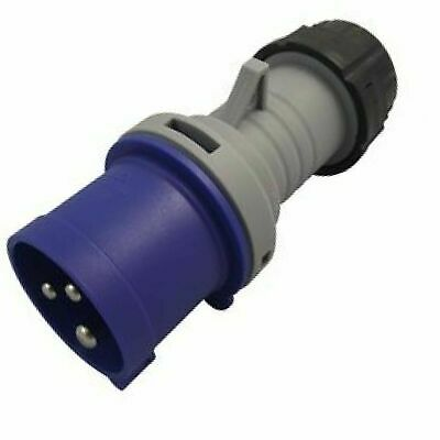 MK  K9001PBLU  16A 2 POLE & EARTH 250V Commando Plug, IP44 Blue