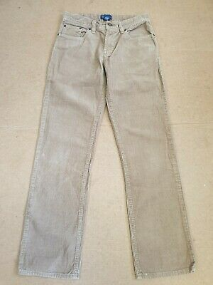 K421 Kids Polo Ralph Lauren Beige Corduroy Straight Trousers 14 Years W26 L28