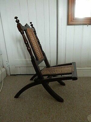 Child's Chair Victorian Folding Steamer Campaign 24 x 12ins.